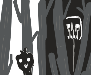 A demon watching u in the woods