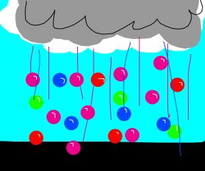 Raining gumballs