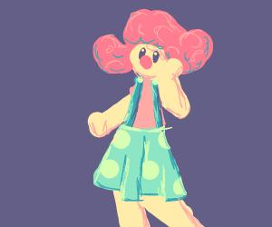 Pretty lady clown