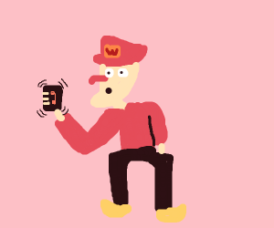 Red Waluigi gets a phone call