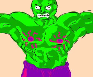 Hulk has radioactive nips