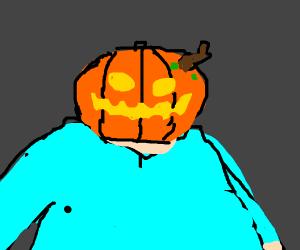 Guy with a pumpkin head
