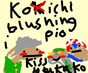 Kokichi Ouma blushing