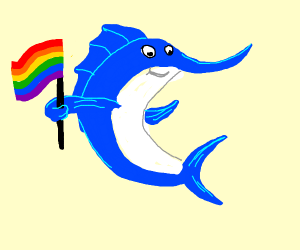 Gay pride swordfish