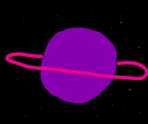 Weird Purple Planet In Space