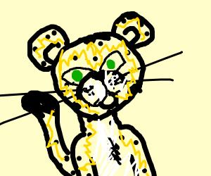 A Green eyed Leopard
