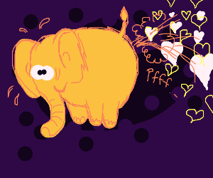 Elephant that farts love