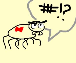 "Spider says ""#!?"""