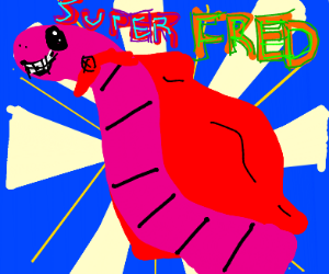 Fred the super hero worm