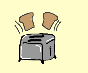toast pops out of toaster