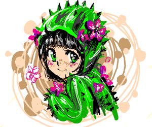 kawaii cactus girl