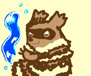 Water-bending racoon