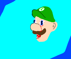 Kawaii Luigi gets eye mutations