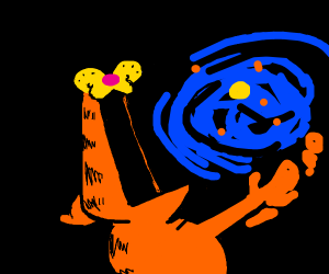 Garfeld Becomes God And Vores The Universe Drawception