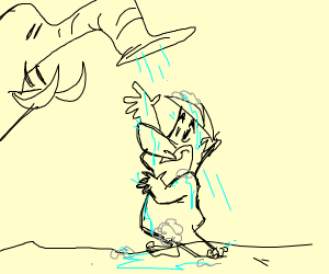barney having a shower
