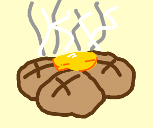 Baked potatoes with butter