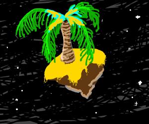 trippy space palm-tree