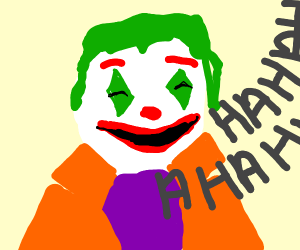 Joker is laughing
