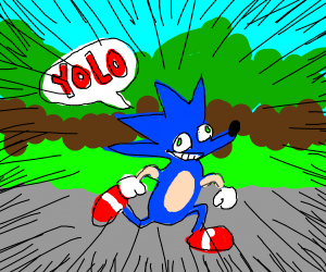 sonic saying yolo