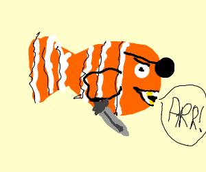 Pirate Nemo with a dagger