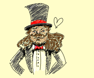 Fancy man in a tux and top hat