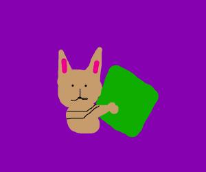 midnight kitten snuggles green blankie