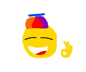 Happy asian meme kid