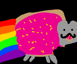 Nyan Cat eats itself