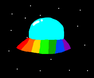 rainbow spaceship