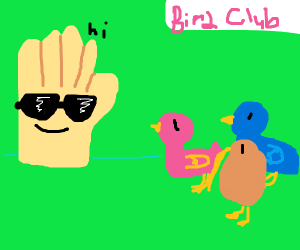 cool hand meets up with the bird club
