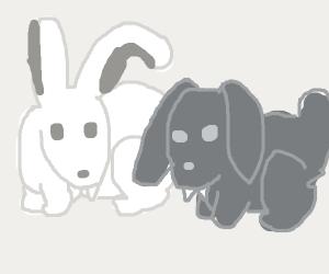 Two vampire bunnies