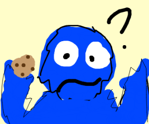 Cookie Monster is trapped and clueless