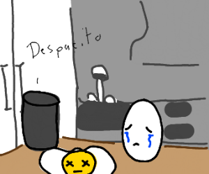egg mourns his friend and plays despacito