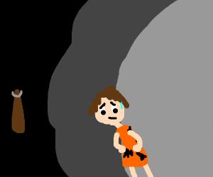 sad caveman