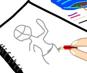 sketching a portrait
