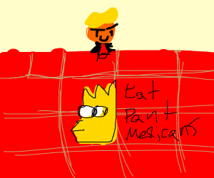 Mexican wall with Bart Simpson on it