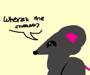 """A mouse asks, """"WHERE DA CHEESE AT?"""""""