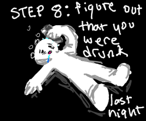 Step 7: start barfing