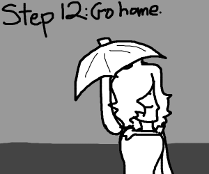 Step 11: Singing in the rain