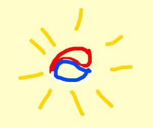 South Korea claims the sun