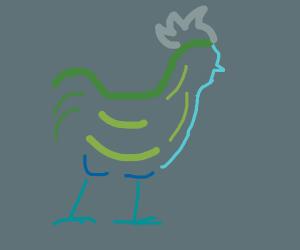 Abstract Chicken Art