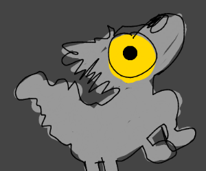 wolf with yellow mask