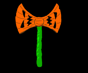 halloween double bladed axe