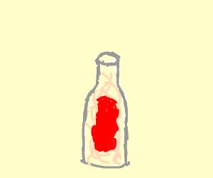 spaghetti in a bottle