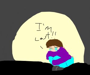 Man crying because he lost