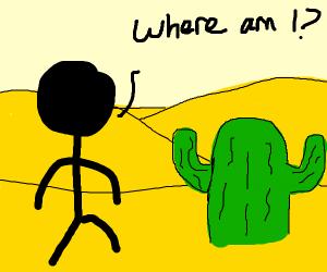 Guy lost in a desert