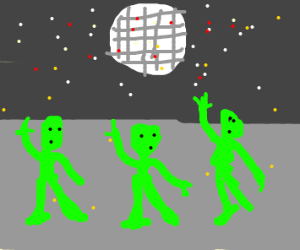 green people disco