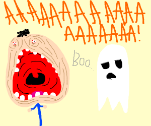 guy scared of ghosts