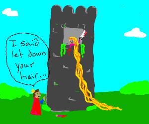 rapunzel got amputated