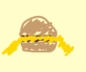 Burger with A LOT of cheese